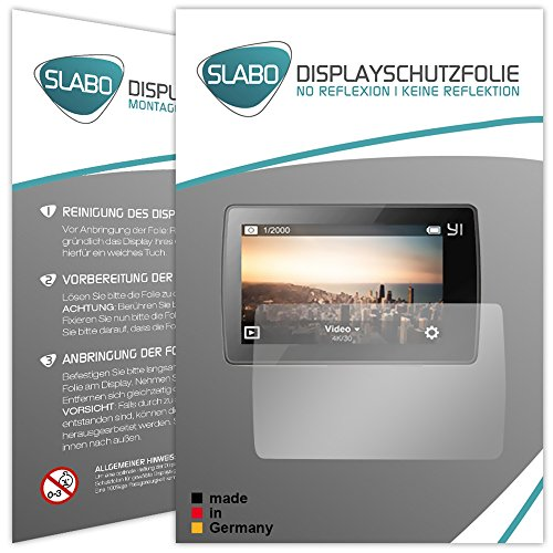 Slabo 2 x Displayschutzfolie für Xiaomi Yi 4K+ Action Cam Displayfolie Schutzfolie Folie No Reflexion | Keine Reflektion MATT