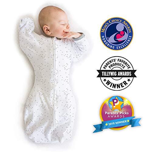 Woombie Original Baby Cocoon Swaddle 3/bis 6/Monate, Blau, Serene Elefanten