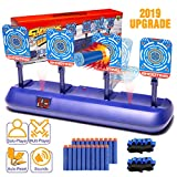 Nerf Gun Targets,Electronic Scoring Auto Reset Shooting Digital Target for Nerf Guns Toys , Ideal Christmas Gift Toy for Kids, Teens, Boys & Girls(2019 Update Version)