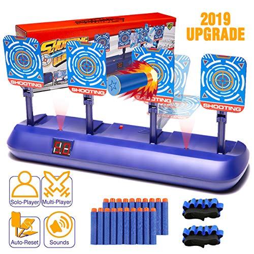 Nerf Gun Targets,Electronic Scoring Auto Reset Shooting Digital Target for Nerf Guns Toys , Ideal Christmas Gift Toy for Kids, Teens, Boys & Girls(2019 Update Version)