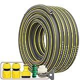 C/H Tubo de Manguera de jardín, 12mm, 5 m: Manguera de jardín Flexible, Perfil de Agarre eléctrico, Mantiene su Forma, Textil de Malla Espiral, presión de ráfaga 30 Bar,Partes del Sistema