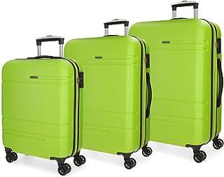 MOVOM Luggage Set, Green (Verde), 78 cm