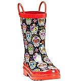 Blazin Roxx 58158-L Girls Jentri Colorful Skull Rain Boots44; Multi Color - Large