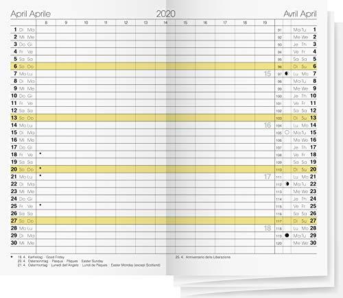 7045030 Ersatzkalendarium · Modell GILET-Planer · Blattgröße 7 x 11,8 cm · Kalendarium 15-teilig