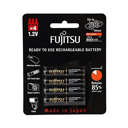 4 Pilhas AAA Palito Recarregáveis 500x da Fujitsu Premium (= Eneloop Pro) com 950 mAh