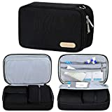 Diabetic Bag for Supplies, Storage Bag for Glucose Meter and Diabetes Care Accessories (Bag Only) - Black