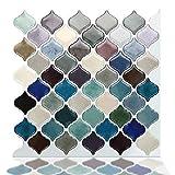 Azulejos adhesivos para cocina, azulejos decorativos para cocina, baño, RV, pegar en la pared, 25,4 x 25,4 cm