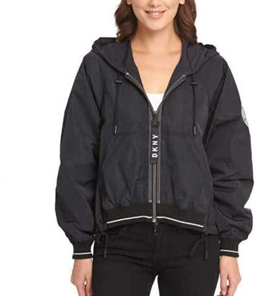 DKNY | Zipper Closure Windbreaker Jacket for Women, Black, M