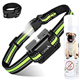 Collar de ladrido de citronela automático para Perros, [Incluye Spray de citronela] Collar de adiestramiento de Perro en Aerosol, Collares de ladrido de citronela Seguros y Humanos