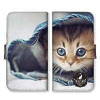 iPhone11 手帳型 スマホ ケース カバー スマホケース スマホカバー 子猫 写真 ブルーeye アイフォン11 アイフォンイレブン 21631
