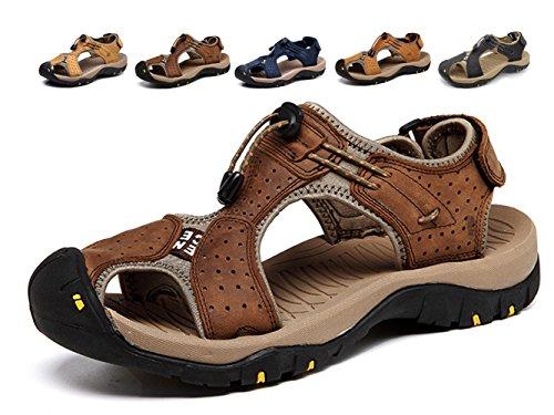 Hombres Zapatos Casuales Confort de Conducción Cuero Mocasines Gamuza Ocio Costuras a Mano Caminando Oxford Negocio Vestido Oficina Trabajo (Marrón Oscuro, Numeric_47)