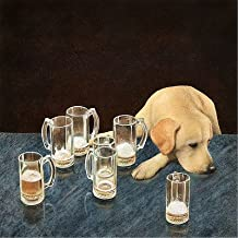 The Collection Shop Will Bullas Whats That in Dog Beers Limited Edition Canvas