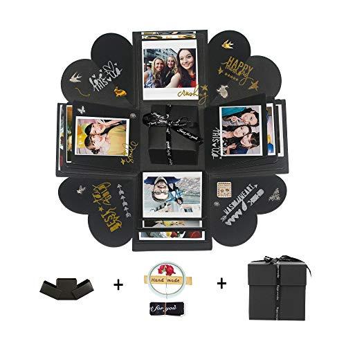 Hbsite DIY Explosion Surprise Box DIY Handmade Photo Love Memory Scrapbooking Caja de Regalo para Navidad Cumpleaños Aniversario San Valentín Regalo de Boda