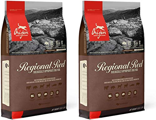 Orijen 2 Pack of Regional Red Dog Food, 13 Pounds Each, Grain-Free, Made in The USA