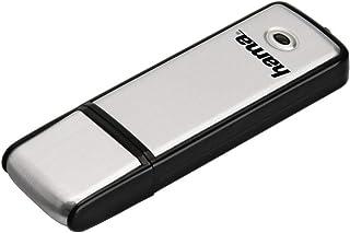 Hama 128GB USB Stick USB 2.0 Datenstick (10 MB/s Datentransfer, inkl. LED Funktionsanzeige, Speicherstick, Memory Stick mit Verschlusskappe, geeignet für Windows/MacBook) silber