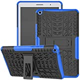 Funda para Huawei Mediapad T3 de 8', Jhxtech Armor Style Hybrid PC + TPU Funda protectora con soporte para Huawei Mediapad T3 8' Tablet Cover Protection (azul)