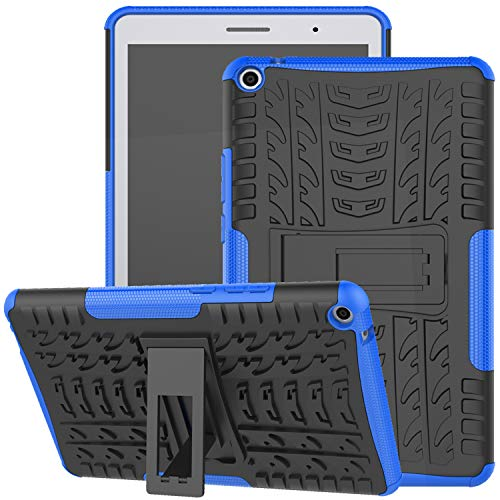 Huawei MediaPad T3 8-Inch Case, Jhxtech Armor Style Hybrid PC + TPU Protective Case with Stand for Huawei MediaPad T3 8' Tablet Cover Protection (blue)