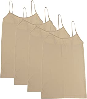 BollyQueena Camisole for Women, 1,3,4 Packs Adjustable Spaghetti Strap Cami