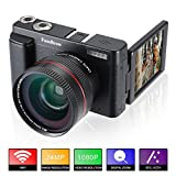 Fotocamera Digitale e Videocamera,FamBrow Full HD 1080P WiFi Camcorder 24MP 16x Zoom Digitale...