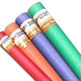 Sunbeach Spas NEW Special 4 Pack Noodle Deal Woggle Logs Swimming Pool Water Sport Lessons Aid Foam Family Holiday Kids Floats Aerobic Therapy Exercise 1.5m / 150cm - Red, Green, Orange, Purple