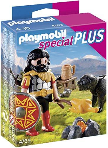 Playmobil Special Plus - Bárbaro con Perro - Bárbaro con Perro, Set de Juego, 10 x 3,5 x 12,5 cm, (4769)
