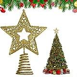 KATELUO Etoile Sapin Noel,Décoration Sapin Noel,Étoile pour Sapin de Noël,Les étoiles réutilisables en Forme d'arbre sont des Accessoires idéaux pour créer Une Ambiance Festive.