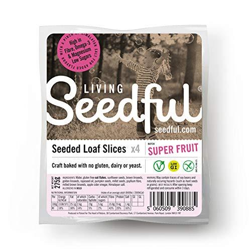 7 x 275g SEEDFUL Fruit Loaf Slices ( 4 Slices Each ), Wellbeing, Gluten Free, Wheat Free, Vegan, Vegetarian, Seeded Bread, Fiber, Protein, Magnesium