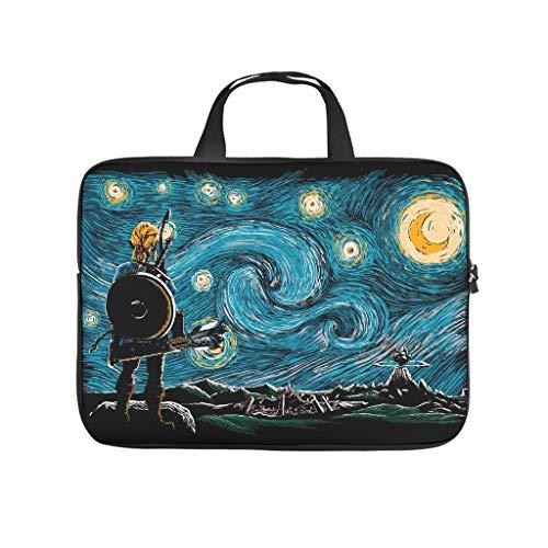 Starry Breath - Bolsa para portátil con diseño de estrellas, color blanco