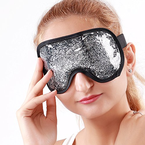 Masque Gel Yeux Froid Masque Migraines Yeux Chaud...