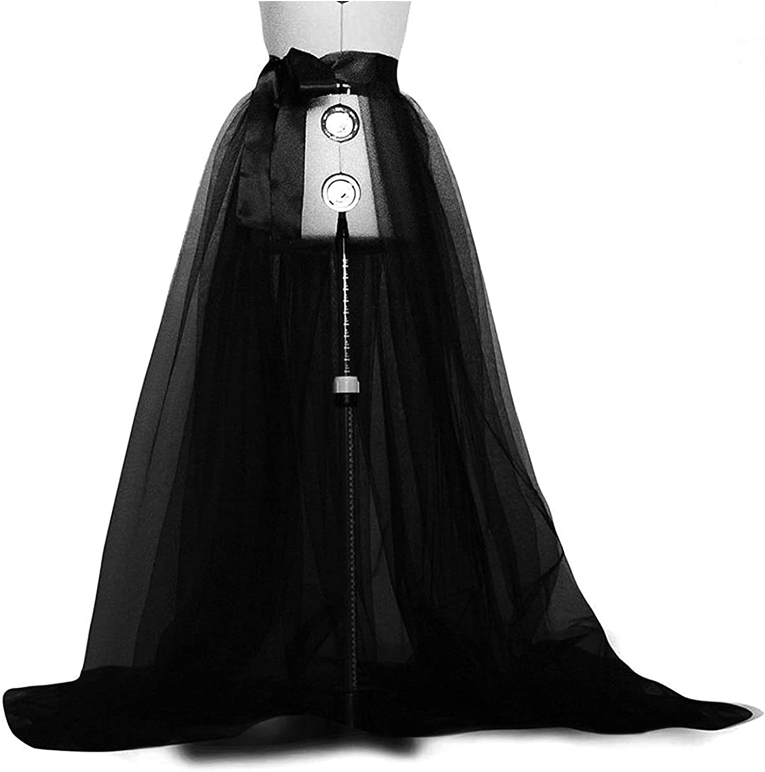 Women Tulle Skirt High Slit Layered Puffy Long Skirts Wedding Night Out Party Adult Tutu Skirts