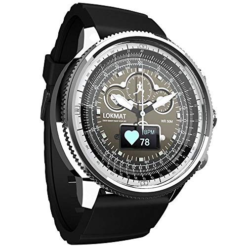 LCNINGZNSB Bluetooth Smart Watch Sport Impermeabile pedometro Informazioni Promemoria Orologio Digitale da Uomo smartwatch per iOS Telefono Android (Colore : C)