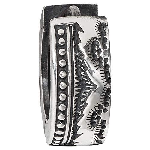 Cai Herren Creole 925/- Sterling Silber 1,4cm Oxidiert ohne Stein Silbergrau 132210502