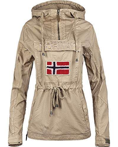 Geographical Norway Chaqueta cortavientos para mujer. beige M