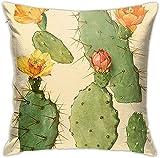 Lewiuzr Funda De Cojín Clásico,Cactus Botánico,Almohada Cubierta Moderna Funda De Almohada Decoración para El Hogar,45 x 45 cm