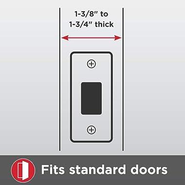 Kwikset 98001-096 Arlington Single Cylinder Handleset w/Lido Lever featuring SmartKey in Lifetime Polished Brass