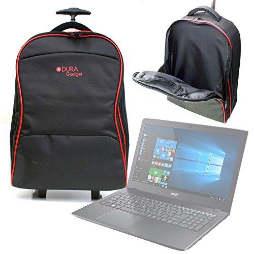 DURAGADGET Maleta de Ruedas para Viajar para Portátil Acer Aspire ES 15 (ES1-533-P5QH) / Medion Akoya P6667, Medidas de Equipaje de Mano.