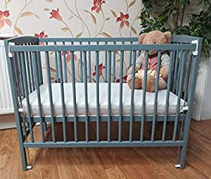Lisa Compact Drop Side Mini Space Saver Cot Grey Includes 10cm Thick High Density Foam  CMHR28  Spacesaver Cot Mattress BABY REX   Perfect for Small Rooms
