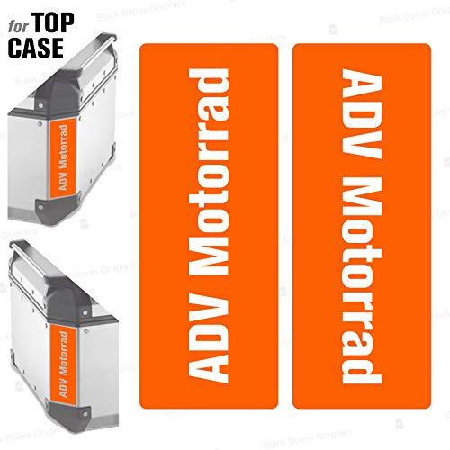 2 adhesivos reflectantes compatibles con Givi Monokey Trekker Outback Baúl de aluminio Top Case 37 42 48 L (color naranja)
