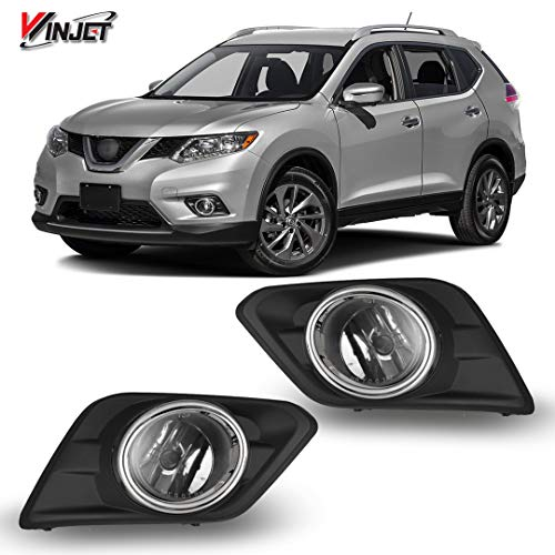 Winjet Compatible with [2014 2015 2016 Nissan Rogue] Driving Fog Lights + Switch + Wiring Kit