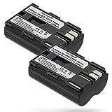 Fosmon - Juego de 2 baterías de ion de litio para Canon EOS 50D, 20D, 300D, 30D, 40D, D30, D60, D60, Kiss Digital, 2 unidades