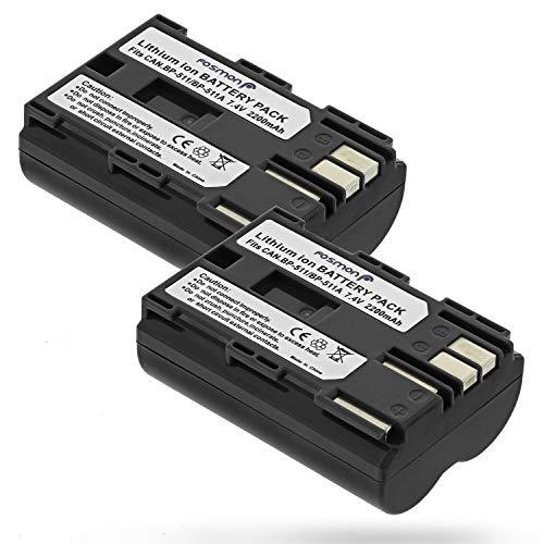 Fosmon BP-511 A Akku [7,4V 2200mAh][2 Stück] BP-512 Ersatz Li-ion Akku Batterie