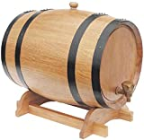 JLDN 10L Barril de Vino, Barril de Madera de Roble Envejecimiento Barril con Grifo con Filtro Kit elaboración del Vino for su Almacenamiento o envejecimiento del Vino,B