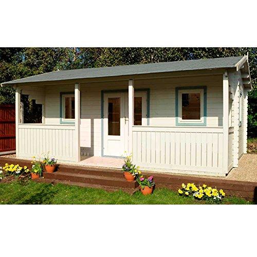 Harlech houten hut, 5,0 m x 4,0 m als paviljoen, kantoor, tuinhut, refugium