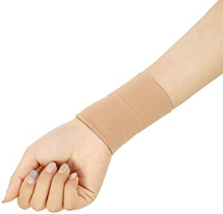 Black/Skin Forearm Tattoo Cover Up Wrist Brace Compression Sleeve Carpal Tunnel (1 pcs) (M, Skin)