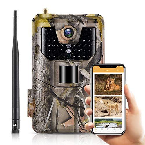 SUNTEKCAM 4G 4K Wildlife Camera live Video 30MP Hunting Trail Camera with IR LEDs...