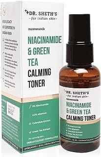 Dr. Sheth's 5% Niacinamide & Green Tea Calming Toner (Vegan) with Calendula Extract, 0.3% Allantoin, And Hyaluronic Acid f...