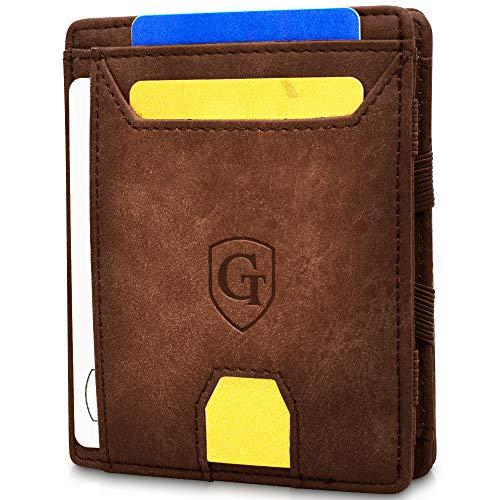 GenTo® Atlantic - Geldbörse Herren - TÜV geprüft - Magic Wallet - Magischer Geldbeutel mit großem Münzfach - Inklusive Geschenkbox - Smart Wallet - Portemonnaie Männer (Dunkelbraun - Soft)