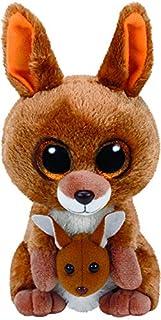 TY - Beanie Boos Kipper, peluche canguro, 15 cm, color marrón (United Labels Ibérica 37226TY)