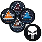 Nip Energy Dip 4 Can Variety Sampler (Wintergreen Ice, Mixed Berry, Peach, and Coffee) with DC Crafts Nation Skin Can Cover - Punisher