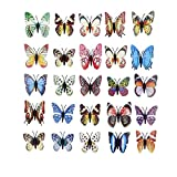 Farfalle 3D Parete, adesivi murali 3d farfalle Luminosi Rimovibili e Riutilizzabili, 12 Pezzi Adesivi farfalla magnetici per camerette, cucine, bagni, Decorazione Unica Casa
